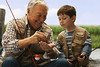 CO1.1 / We can use the pick-up here or there was a note to research something similar.<br /> <br /> Choice 4 of 13<br /> <br /> West New York, New Jersey, USA --- Caucasian grandfather and grandson fishing together --- Image by © KidStock/Blend Images/Corbis