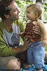 M178 / Choice 1 of  8 / Father Holding Baby Outdoors