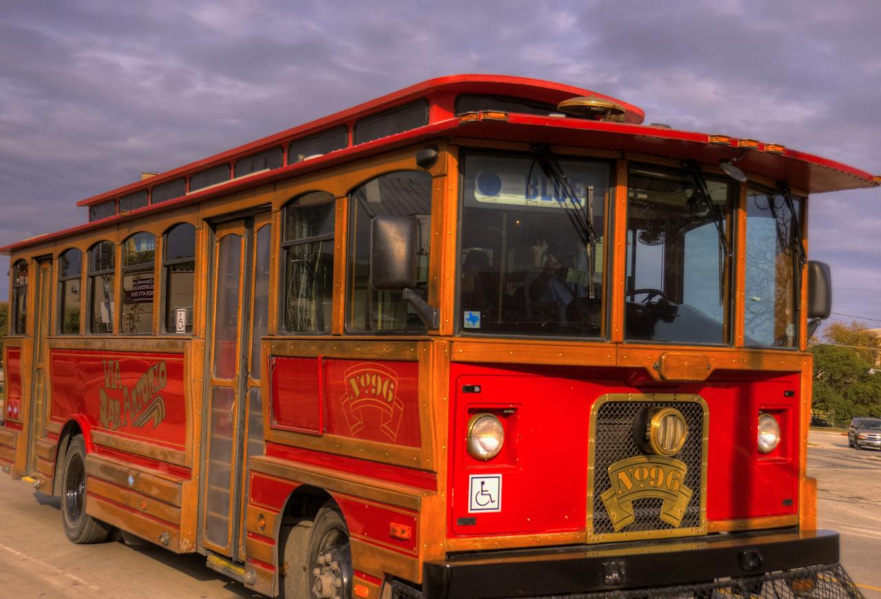 the Blue trolley