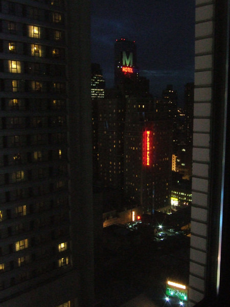 The view from my hotel
