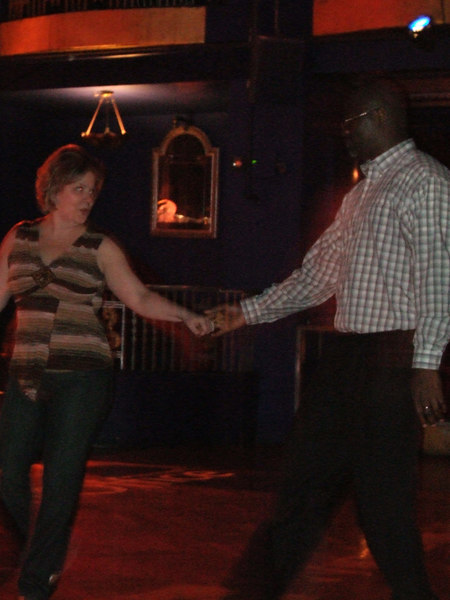 Stephanie dancing at the Supper Club.