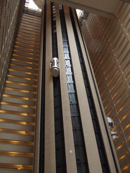 Elevators at the Marriott Marquis.