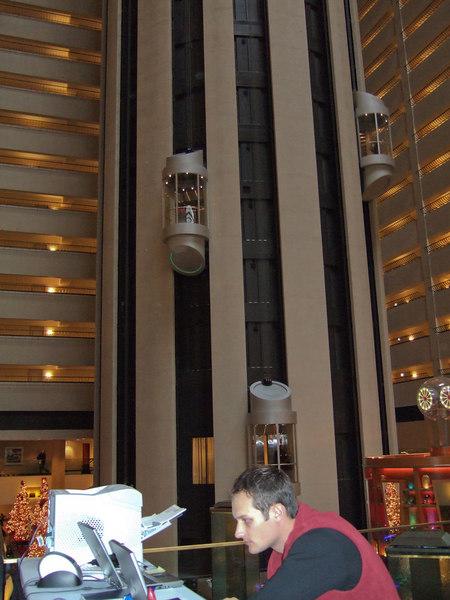 Matt at the registration desk at the Marriott Marquis.
