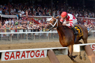 Ramon Dominguez won the Woodward Stakes, Grade 1, with Havre de Grace on Saturday at the Saratoga Race Course. Photo Erica Miller 9/3/11 spt_Woodward1_Sun