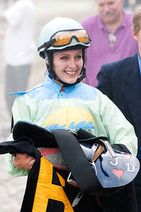 Jacqueline Davis Sunday afternoon after the 8th race. Photo Eric Jenks 9/4/11