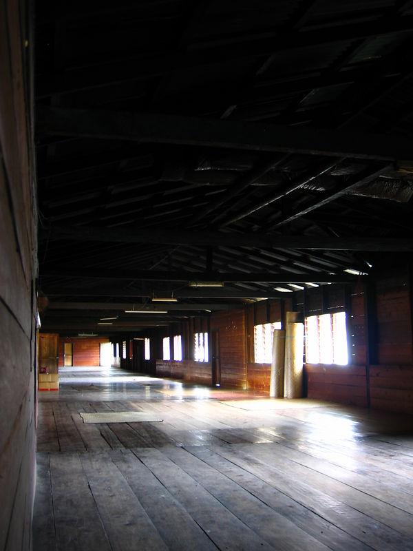 inside a kelabit longhouse