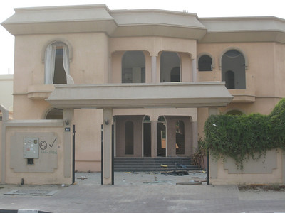 Nobody is immune from the bulldozers.  The owners of this huge mansion, a local Emirati family, have been evicted just like everyone else (though they receive a new block of land and financial assistance from the government).  The house is totally stripped and ready for demolition.