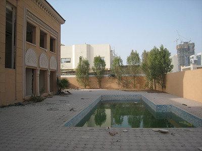 The place even had a beautiful pool.  This house and so many other like it are being trashed in the name of progress.