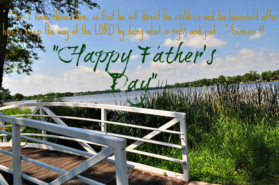 """12 BIBLE VERSES FOR FATHER'S DAY  http://mondaymorningreview.wordpress.com/2012/06/13/12-bible-verses-for-fathers-day/ """"Genesis 18:19 – """"For I have chosen him, so that he will direct his children and his household after him to keep the way of the LORD by doing what is right and just, so that the LORD will bring about for Abraham what he has promised him.""""(NIV)""""  What Does the Bible Say About Fathers Day? - OpenBible.info http://www.openbible.info/topics/fathers_day     Father's Day: What Makes a Good Father? http://www.biblegateway.com/blog/2012/06/fathers-day-what-makes-a-good-father/    Good News Men https://www.facebook.com/groups/597195683630218/"""