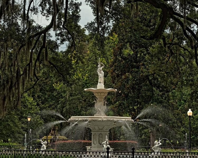 Forsyth Park Fountain - 1858