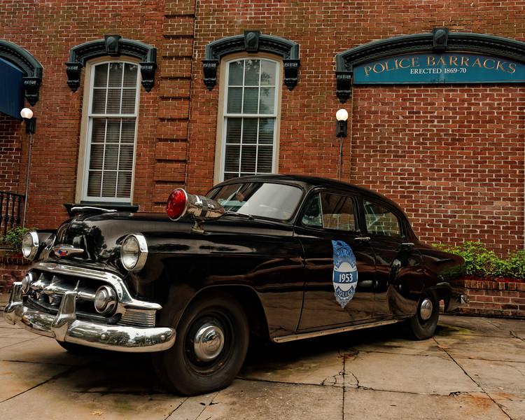 1953 Chevrolet Police Car and Police Barracks