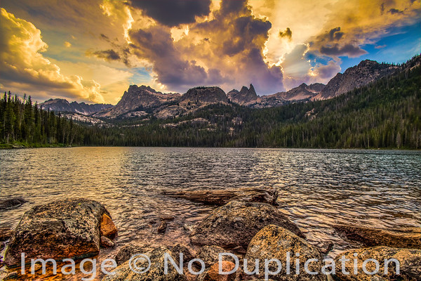 Hell Roaring Lake, Sawtooth Wilderness, Sawtooth Mountains, Sawtooth National Recreation Area