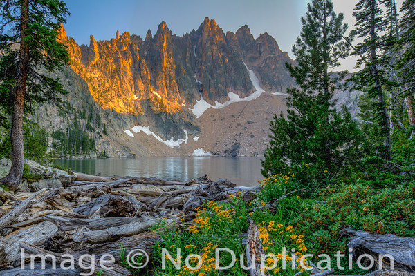 Mount Heyburn, Sawtooth Wilderness, Sawtooth Mountains, Sawtooth National Recreation Area