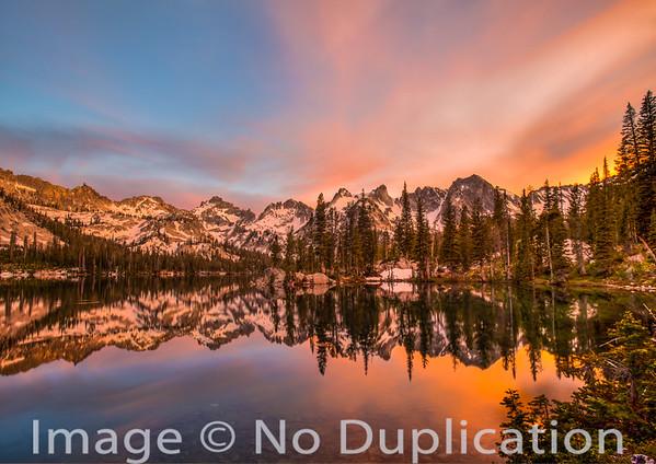 Allic Lake in the Sawtoot Wilderness, Idaho