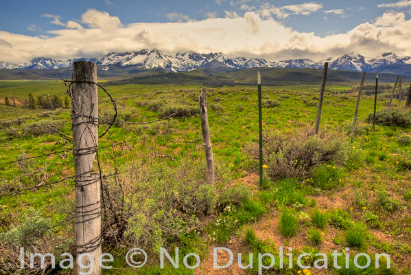 Sawtooth Mountain Fence Line, Idaho