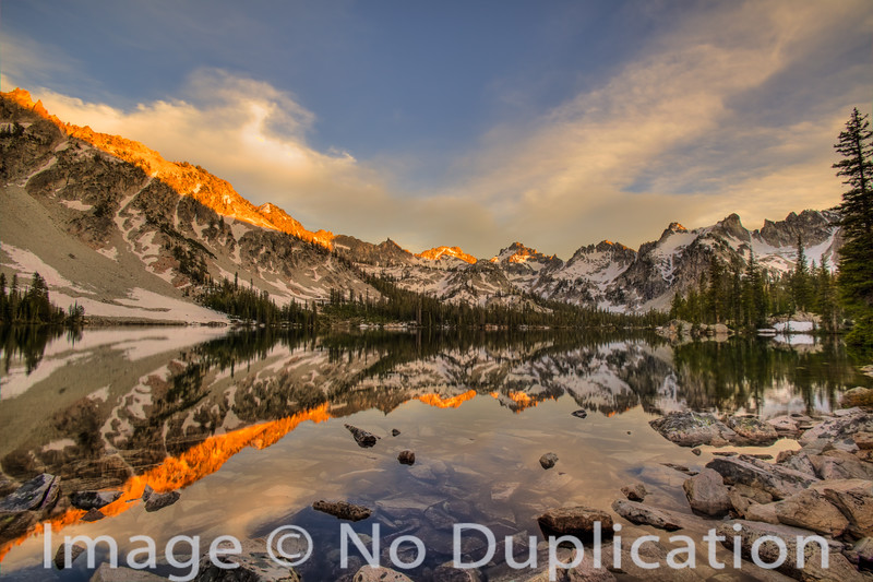 Alice Lake in the Sawtooth Wilderness.