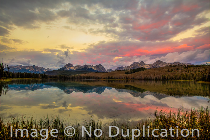 Little Redfish Lake Fire Sunrise