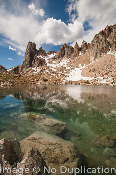 An alpine lake in the Sawtooth Wilderness, Idaho