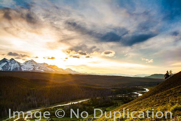 The Sawtooth Mountains and the Salmon River, Idaho