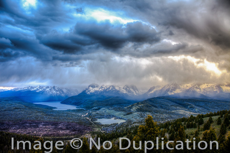 Storm Clouds Over the Sawtooths