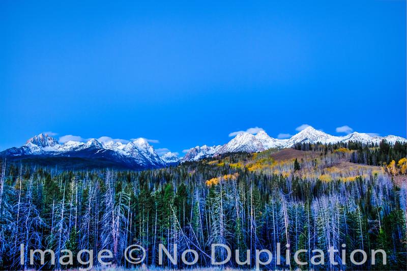 Sawtooth Mountains at Dawn