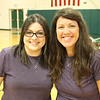 Purple twins, Ms. Havens and Mrs. Hill.