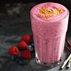 Berry smoothie in a tall glass
