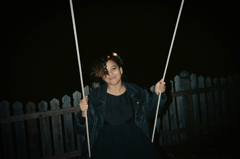 Lashonda on a swing sometime around 1990