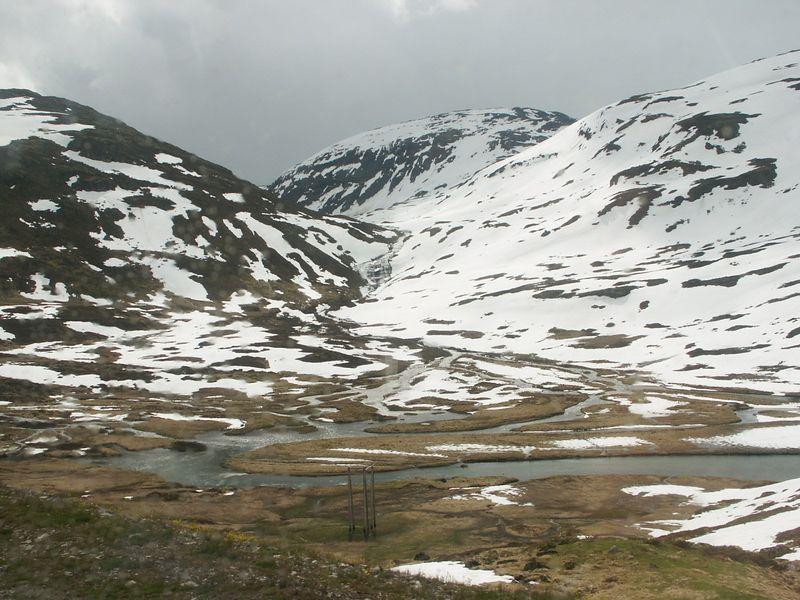 The high mountains near Myrdall.