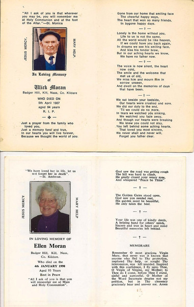 Obituary info for Mom and Dad.