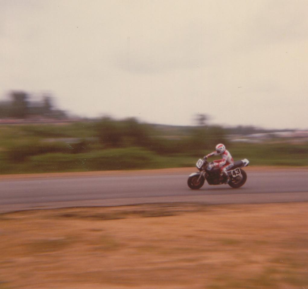 Mike Baldwin at Loudon, 1984.