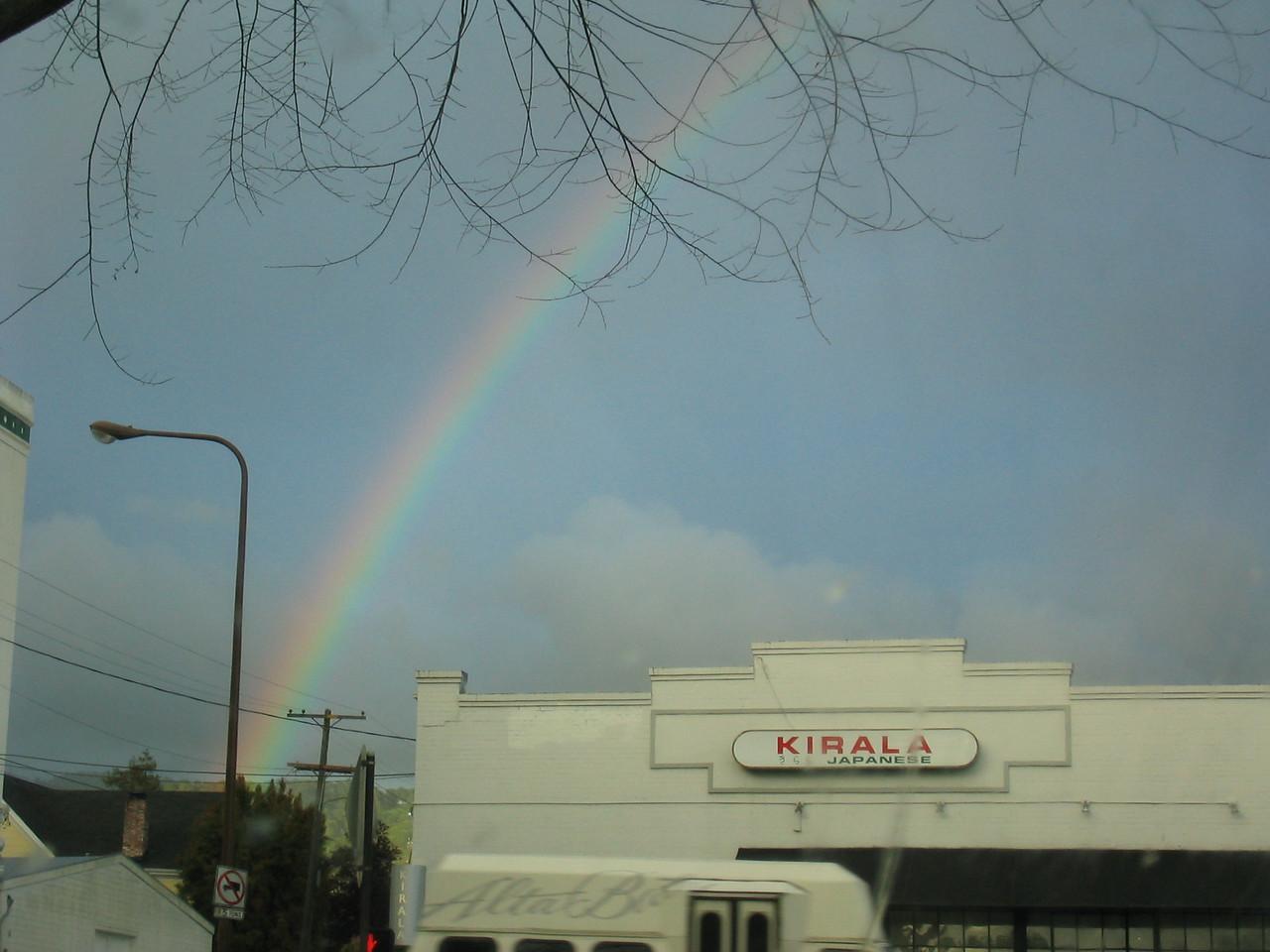 Rainbow over Berkeley - a common sight heh heh