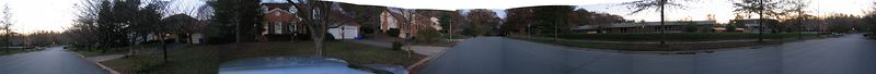 2003 11 09 Sunday - Panoramic Home Street Shot @ Lochinver Ln, Maryland
