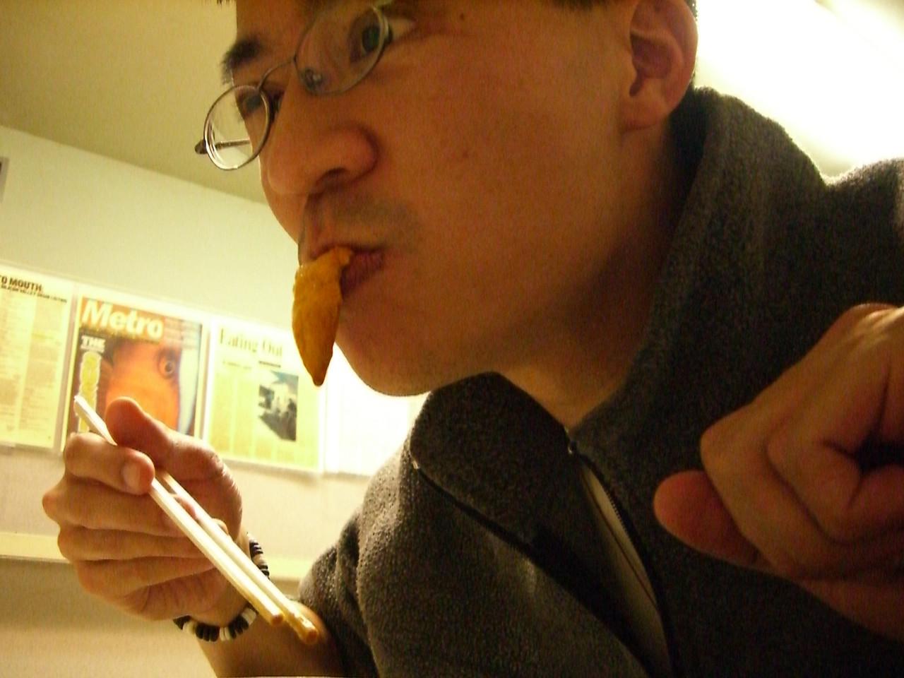 2006 03 27 Mon - Ben Yu's sea urchin sushi tongue