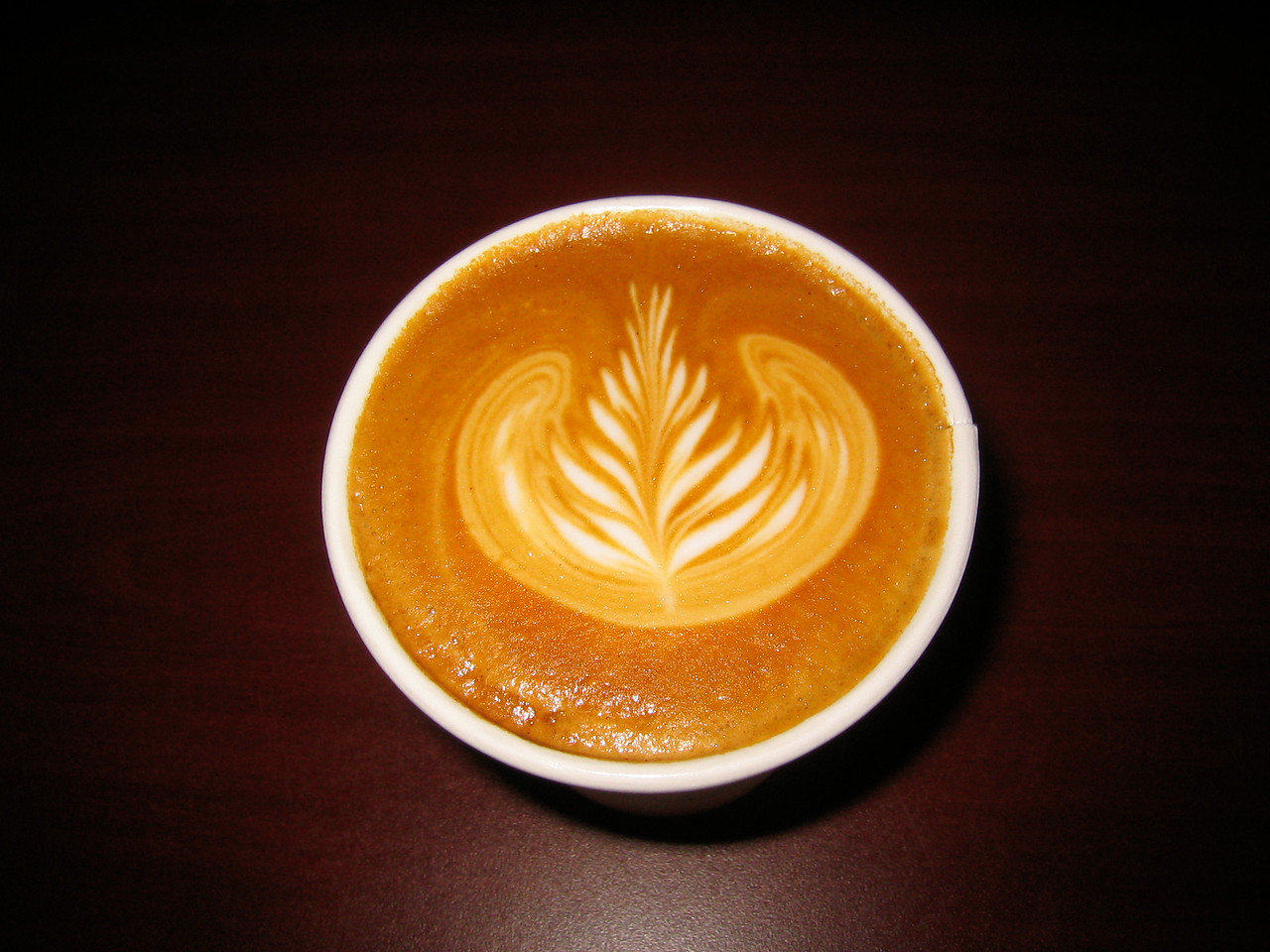 2005 05 25 Wed - Artsy Fartsy milk in coffee