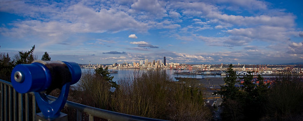 Seattle and Puget Sound from Belvedere Viewpoint Park in West Seattle