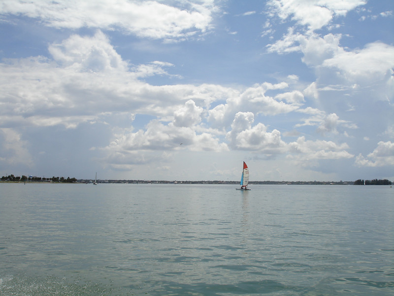 Sailing in Tampa Bay, Florida