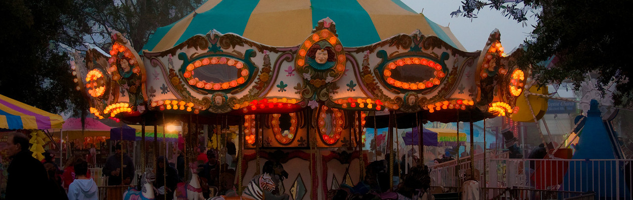 Carousel on the night of the New Port Richey Christmas parade.