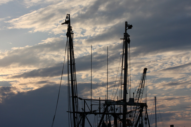 Another evening picture of the sky behind a shrimp boat.