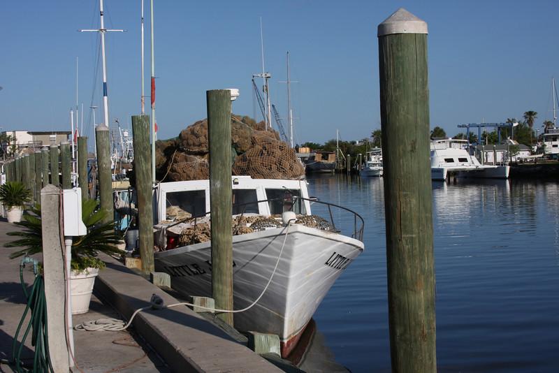 A modern sponge boat.