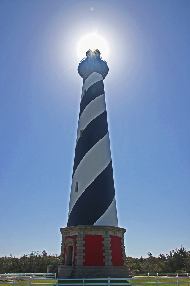 Backlit Hatteras light