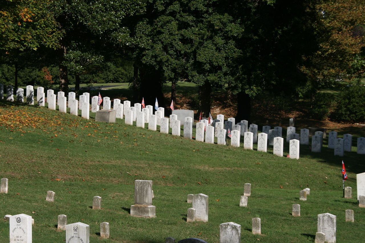 Southern Gettysburg dead in Hollywood Cemetary