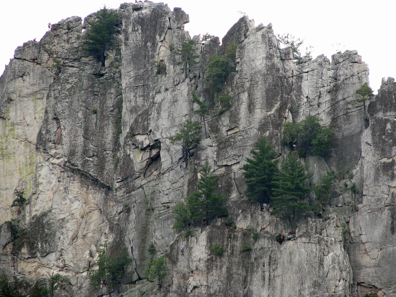 Seneca Rock complete with rock climbers if you can find them.
