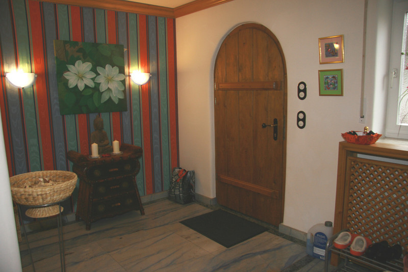 Entrance Hall with fabric wallcovering