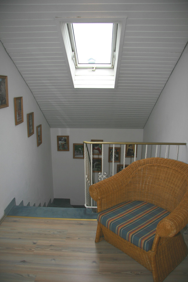 View of stairs from upstairs landing