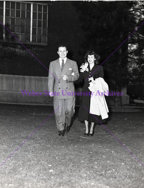 Couple going to a dance - 1947