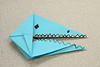 A Blue Gator in origami, created by one of Ascension's fifth graders.