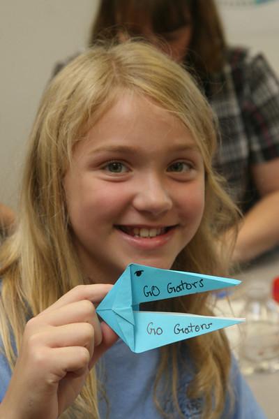 Fun with origami gators!