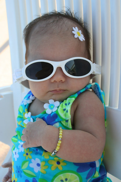 Too cool in her shades!