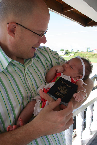 After anxiously awaiting her passport, Lilly gets to be with Daddy in Grenada!